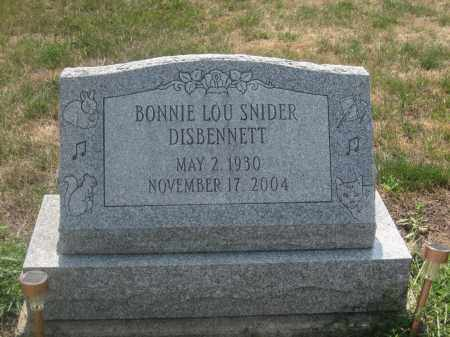 DISBENNETT, BONNIE LOU SNIDER - Union County, Ohio | BONNIE LOU SNIDER DISBENNETT - Ohio Gravestone Photos