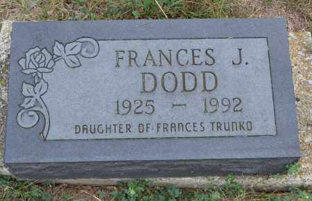 DODD, FRANCES J. - Union County, Ohio | FRANCES J. DODD - Ohio Gravestone Photos