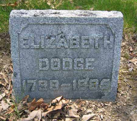 DODGE, ELIZABETH - Union County, Ohio | ELIZABETH DODGE - Ohio Gravestone Photos