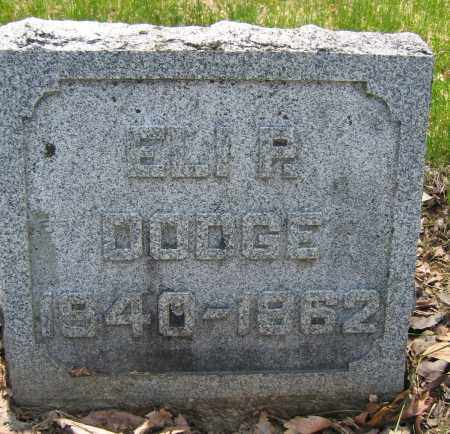 DODGE, ELI P. - Union County, Ohio | ELI P. DODGE - Ohio Gravestone Photos
