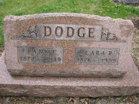DODGE, FRANK E. - Union County, Ohio | FRANK E. DODGE - Ohio Gravestone Photos