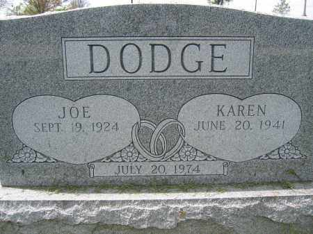DODGE, KAREN - Union County, Ohio | KAREN DODGE - Ohio Gravestone Photos
