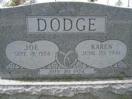 DODGE, KAREN - Union County, Ohio | KAREN DODGE - Ohio Gravestone Photos