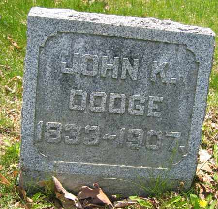 DODGE, JOHN K. - Union County, Ohio | JOHN K. DODGE - Ohio Gravestone Photos