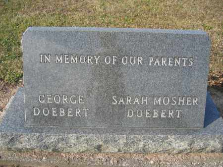 DOEBERT, SARAH MOSHER - Union County, Ohio | SARAH MOSHER DOEBERT - Ohio Gravestone Photos