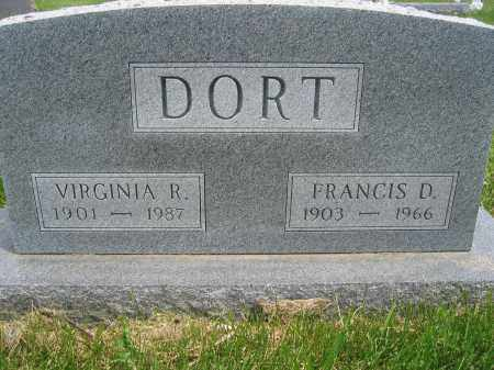 DORT, FRANCIS D. - Union County, Ohio | FRANCIS D. DORT - Ohio Gravestone Photos