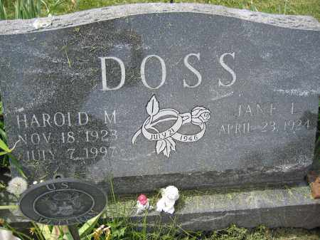 DOSS, HAROLD M. - Union County, Ohio | HAROLD M. DOSS - Ohio Gravestone Photos