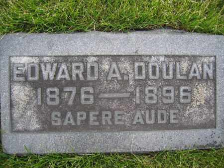 DOULAN, EDWARD A. - Union County, Ohio | EDWARD A. DOULAN - Ohio Gravestone Photos