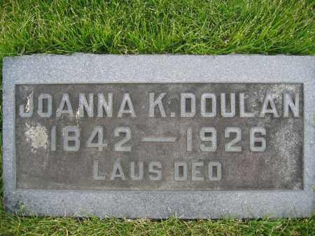 DOULAN, JOANNA K. - Union County, Ohio | JOANNA K. DOULAN - Ohio Gravestone Photos