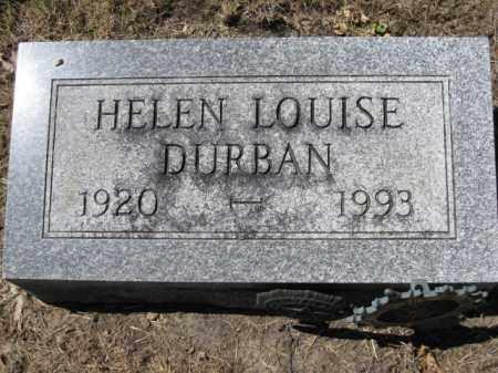 DURBAN, HELEN LOUISE - Union County, Ohio | HELEN LOUISE DURBAN - Ohio Gravestone Photos