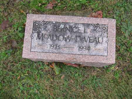 MCADOW DVEAU, BERNICE I. - Union County, Ohio | BERNICE I. MCADOW DVEAU - Ohio Gravestone Photos