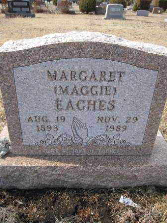 EACHES, MARGARET - Union County, Ohio | MARGARET EACHES - Ohio Gravestone Photos