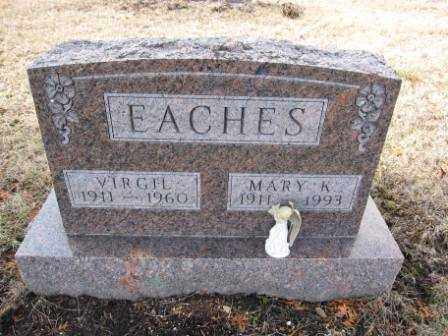 EACHES, VIRGIL - Union County, Ohio | VIRGIL EACHES - Ohio Gravestone Photos