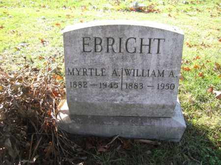 EBRIGHT, MYRTLE  A. - Union County, Ohio | MYRTLE  A. EBRIGHT - Ohio Gravestone Photos