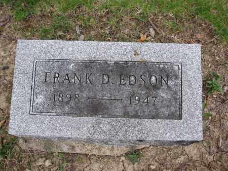 EDSON, FRANK D - Union County, Ohio | FRANK D EDSON - Ohio Gravestone Photos