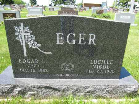 EGER, LUCILLE NICOL - Union County, Ohio | LUCILLE NICOL EGER - Ohio Gravestone Photos