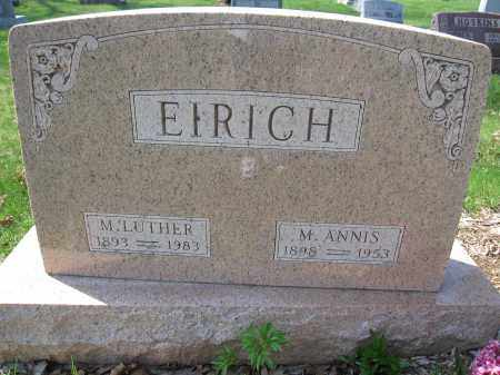 EIRICH, M. ANNIS - Union County, Ohio | M. ANNIS EIRICH - Ohio Gravestone Photos