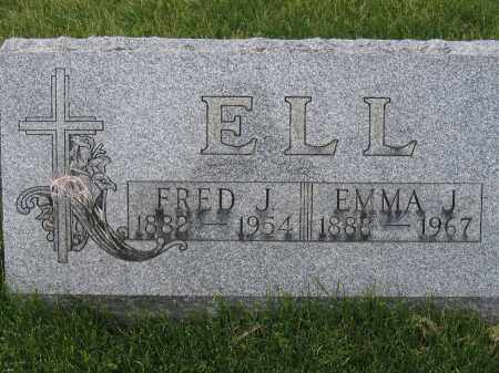ELL, EMMA J - Union County, Ohio | EMMA J ELL - Ohio Gravestone Photos