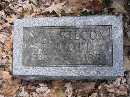 ELLIOTT, ADA WILCOX - Union County, Ohio | ADA WILCOX ELLIOTT - Ohio Gravestone Photos