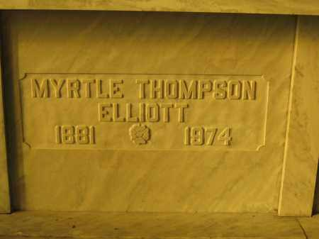 ELLIOTT, MYRTLE THOMPSON - Union County, Ohio | MYRTLE THOMPSON ELLIOTT - Ohio Gravestone Photos