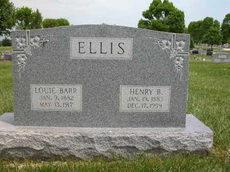 ELLIS, LOUIE BARR - Union County, Ohio | LOUIE BARR ELLIS - Ohio Gravestone Photos
