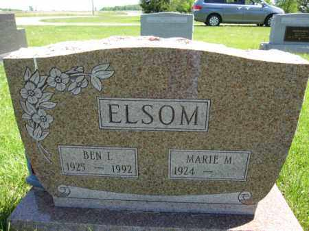 ELSOM, BEN L. - Union County, Ohio | BEN L. ELSOM - Ohio Gravestone Photos