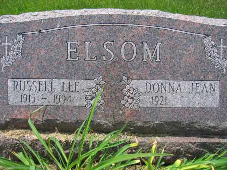 ELSOM, DONNA JEAN - Union County, Ohio | DONNA JEAN ELSOM - Ohio Gravestone Photos