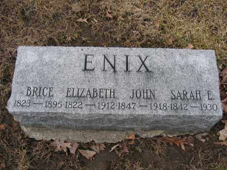 ENIX, JOHN - Union County, Ohio | JOHN ENIX - Ohio Gravestone Photos