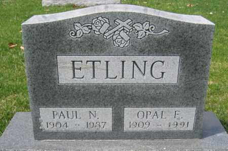 ETLING, PAUL N. - Union County, Ohio | PAUL N. ETLING - Ohio Gravestone Photos