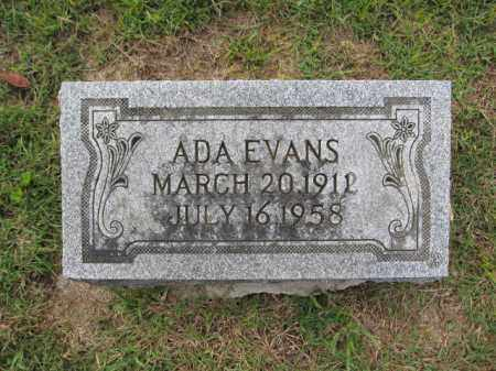 EVANS, ADA - Union County, Ohio | ADA EVANS - Ohio Gravestone Photos