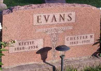 EVANS, KITTIE HARTSHORN - Union County, Ohio | KITTIE HARTSHORN EVANS - Ohio Gravestone Photos