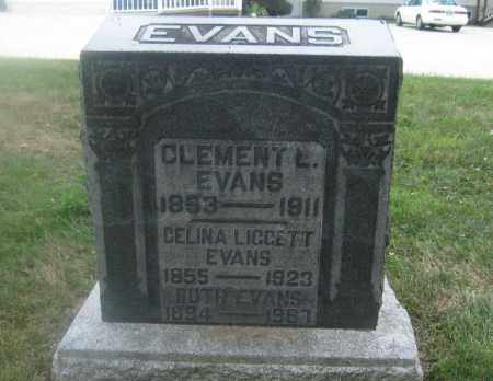 EVANS, CELINA LIGGETT - Union County, Ohio | CELINA LIGGETT EVANS - Ohio Gravestone Photos