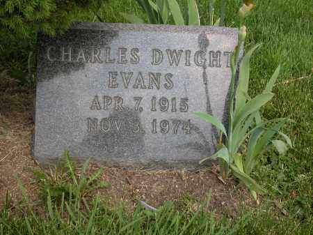 EVANS, CHARLES DWIGHT - Union County, Ohio | CHARLES DWIGHT EVANS - Ohio Gravestone Photos