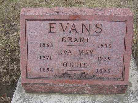 EVANS, EVA MAY - Union County, Ohio | EVA MAY EVANS - Ohio Gravestone Photos