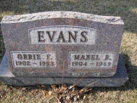 EVANS, ORRIE F. - Union County, Ohio | ORRIE F. EVANS - Ohio Gravestone Photos