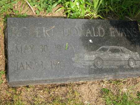EVANS, ROBERT DONALD - Union County, Ohio | ROBERT DONALD EVANS - Ohio Gravestone Photos