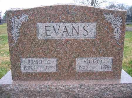 EVANS, MILDRED I. - Union County, Ohio | MILDRED I. EVANS - Ohio Gravestone Photos