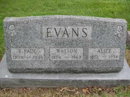 EVANS, R. PAUL - Union County, Ohio | R. PAUL EVANS - Ohio Gravestone Photos