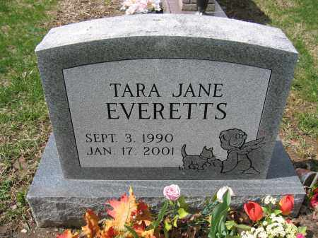 EVERETTS, TARA JANE - Union County, Ohio | TARA JANE EVERETTS - Ohio Gravestone Photos