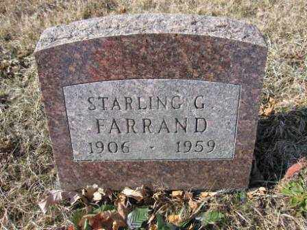 FARRAND, STARLING G. - Union County, Ohio | STARLING G. FARRAND - Ohio Gravestone Photos