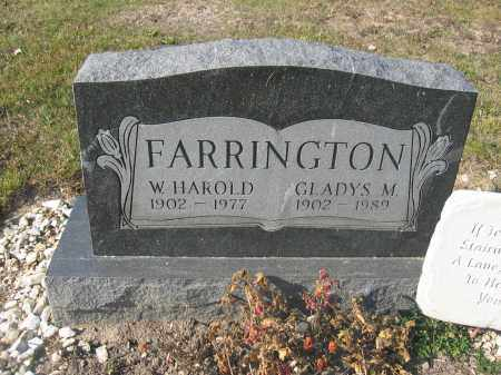 FARRINGTON, W. HAROLD - Union County, Ohio | W. HAROLD FARRINGTON - Ohio Gravestone Photos