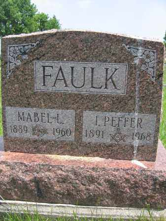 FAULK, I. PEFFER - Union County, Ohio | I. PEFFER FAULK - Ohio Gravestone Photos