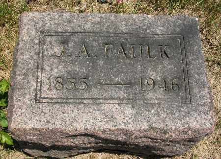 FAULK, J.A. - Union County, Ohio | J.A. FAULK - Ohio Gravestone Photos