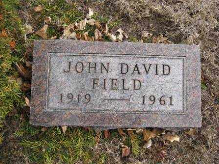 FIELD, JOHN DAVID - Union County, Ohio | JOHN DAVID FIELD - Ohio Gravestone Photos
