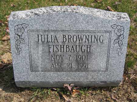FISHBAUGH, JULIA BROWNING - Union County, Ohio | JULIA BROWNING FISHBAUGH - Ohio Gravestone Photos