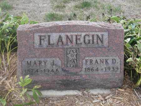 FLANEGIN, MARY J. - Union County, Ohio | MARY J. FLANEGIN - Ohio Gravestone Photos
