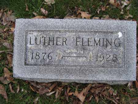 FLEMING, LUTHER - Union County, Ohio | LUTHER FLEMING - Ohio Gravestone Photos