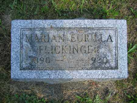FLICKINGER, MARIAN EURILLA - Union County, Ohio | MARIAN EURILLA FLICKINGER - Ohio Gravestone Photos
