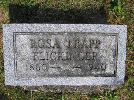 FLICKINGER, ROSA TRAPP - Union County, Ohio | ROSA TRAPP FLICKINGER - Ohio Gravestone Photos