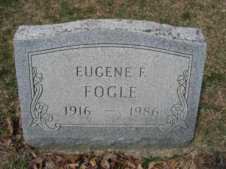 FOGLE, EUGENE F. - Union County, Ohio | EUGENE F. FOGLE - Ohio Gravestone Photos